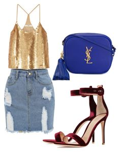 """Party"" by muscateguim on Polyvore featuring TIBI, Gianvito Rossi y Yves Saint Laurent"
