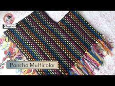 Poncho Multicolor FACIL Y RAPIDO a Crochet - YouTube