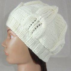 Bonnet, fantaisie, en laine, femme, adolescente, à torsades, point ajouré 240985742fc