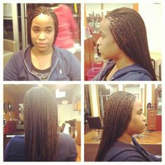 Senegalese twists/micro twists done by Helen at Mannequin Hair Braiding & Weaves. (404) 702-6995.