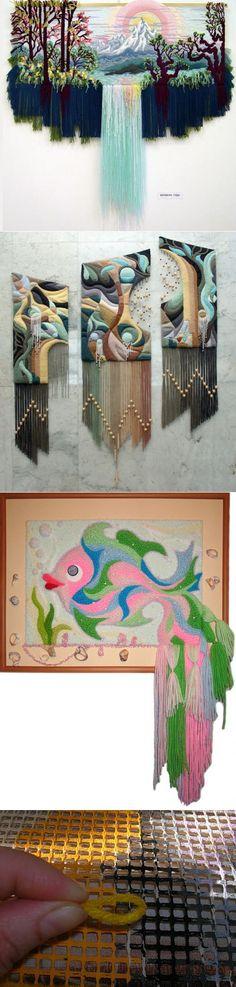 Weaving Loom Diy, Card Weaving, Weaving Art, Weaving Patterns, Tapestry Weaving, Weaving Projects, Art Graphique, Woven Wall Hanging, Weaving Techniques