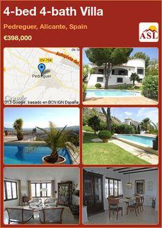 4-bed 4-bath Villa in Pedreguer, Alicante, Spain ►€398,000 #PropertyForSaleInSpain