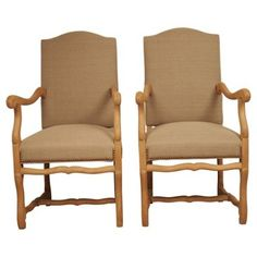 Check out this item at One Kings Lane! French Os de Mouton Chairs, 1930, Pair