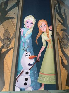 Elsa and Anna: *opens door, and walks in* *sees a winter wonderland and Jack Frost* Jack Frost: AHHHH!!