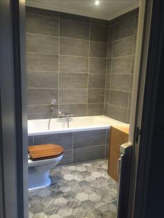 Nieuwe badkamer met Vesta mix hexagon tegels