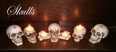 SCHEDELS & SKELETTEN   WEBWINKEL EXOTIEK - Wat van mijn kunststoffen doodskop verzameling in het donker.