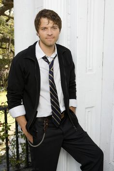 I don't even know what's going on here. Is this a punk AU? A Harry Potter AU? Does it matter? Misha Collins looking ridiculously attractive (congrats on your face)