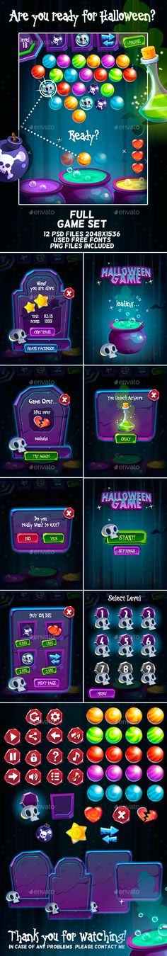 Halloween Bubble Shooter Full Game Set on Behance