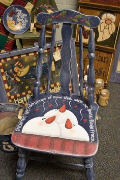.So cute; what a great chair for the tree.