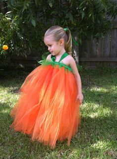 Little Pumpkin Tutu Halloween Costume #tutu #dress #halloween #costume #pumpkin
