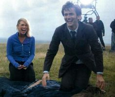 The Doctor and Rose (Doctor Who) I love the looks on their faces!!!