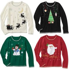 For my Ugly Sweater Party.  Of course I will dress them up much more than this.  :)