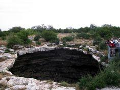 Texas Devil's Sinkhole    400 ft deep x 40 x 60 ft....Rocksprings, Texas