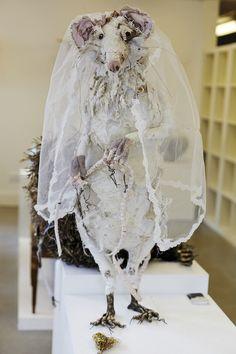Lauren Scott, sustainable textiles patchwork rat sculpture
