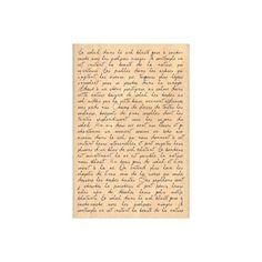 Tampon - Texte Manuscrit