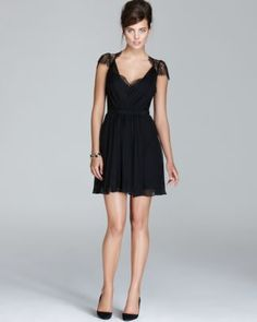 ABS by Allen Schwartz Dress - Sweetheart Belted Lace  Bloomingdale's