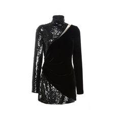 Zuhair Murad Long Sleeve Sequins dress (72,335 MXN) ❤ liked on Polyvore featuring dresses, short dresses, long-sleeve mini dress, short sleeve cocktail dress, sequin mini dress and long-sleeve maxi dress