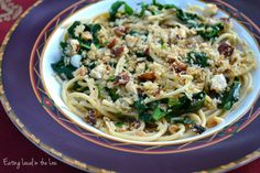 Whole Wheat Pasta with Kale and Toasted Hazelnut Breadcrumbs