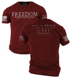 grunt style red shirt friday freedom patriot