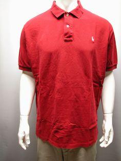 Polo Ralph Lauren Red Men's  Polo Shirt Sz XXL Pony Logo Cotton #RalphLauren #PoloGolf