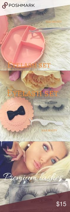 Mink Eyelash set All brand new include ⭐️Eyelash Case with dividers ⭐️Mink Lashes ⭐️Eyelash applicator    ✅Add on glue +$3 black or clear color   Only 1 available ❣️ This case is discontinued model so it's super rare✨    # tags Iconic, mink, red cherry eyelashes, house of lashes, doll, kawaii, case, full, natural,  Koko, Ardell, wispies, Demi , makeup,   Ship within 24 hours ✅ Makeup False Eyelashes