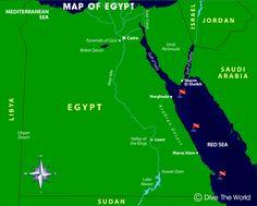 Mapa de Egipto: El Cairo, Luxor, Mar Rojo, Hurghada, Sharm El Sheikh, Marsa…