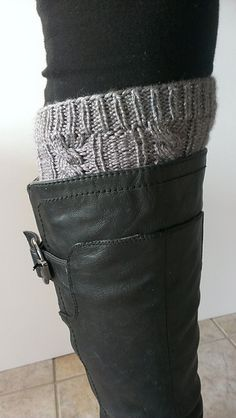 Cabled Leg Warmers & Boot Cuffs pattern by Mockingbird Knits - easy project.