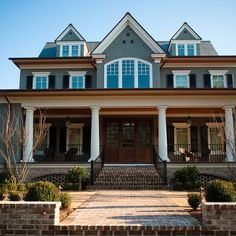 Exterior Brick Farmhouse Design, Pictures, Remodel, Decor and Ideas - page 2