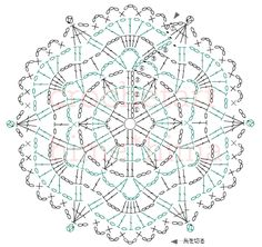 Note写真手前ダルマレース糸「葵」color No. 2(アイボリー)・6(グリーン)2号レース針 約10㎝写真奥エミーグランデ color No.7312/0号かぎ針 約11㎝Memo作り目はわから編む方法で鎖編み3目で立ち上がり、長編みと鎖編み3目を編み図の通り編みます。前段の鎖編みに編むところは束で拾って編みます。編み図は、縁編みで糸の色を替えるように書いていませんが、縁編みで糸の色を替えるときは、6段目を最後まで編み、