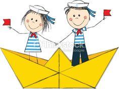 Vector Art : Funny sailors Book Cover Art, Book Art, Origami Boat, Free Vector Art, Funny, Sailor, Illustration Art, Playing Cards, Doodles