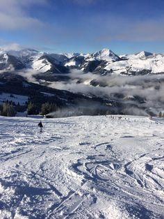 skiing in Kirchberg, Austria