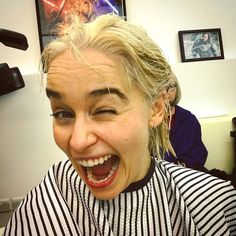 Emilia went blonde for the final season! #GameOfThrones #EmiliaClarke #DaenerysTargaryen