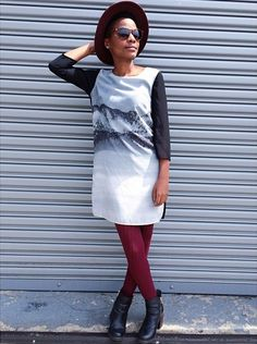 H  M midi dress with some fun stockings #Silverwears #handm #burgundy #mididress #fallfashion #fashion