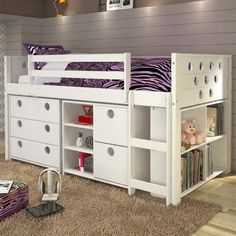 Donco Circles Low Study Loft Bed - 780-T
