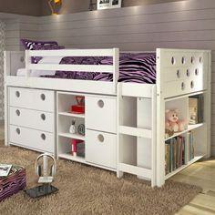 Donco Circles Low Study Loft Bed - 780-T