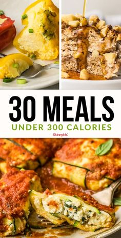 These 30 Meals Under 300 Calories will fill your tummy satusfy your cravings and practically eliminate the stress of cooking! These 30 Meals Under 300 Calories will fill your tummy satusfy your cravings and practically eliminate the stress of cooking! Under 300 Calorie Meals, 300 Calorie Dinner, 300 Calorie Lunches, Dinner Under 300 Calories, Low Calorie Dinners, Low Calorie Recipes, Healthy Recipes, Healthy Meals, Filling Low Calorie Meals