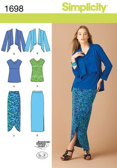 Simplicity 1698 from Simplicity patterns is a Misses' & Plus Size Sportswear sewing pattern