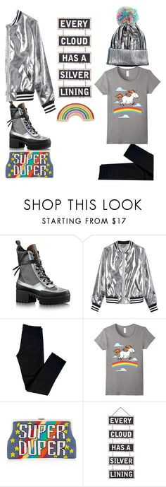 """""""silver lining"""" by keepitrealforme ❤ liked on Polyvore featuring Sans Souci, J Brand, Sarah's Bag, Silver Lining and Georgia Perry"""