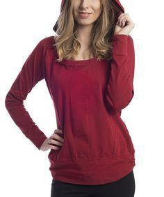 Look at this #zulilyfind! Red Dahlia Mohini Organic Hoodie - Women by SATVA #zulilyfinds