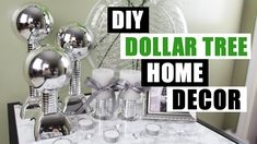 It's another Dollar Tree DIY home decor project! This time I show you how to make some DIY staggered faux mirror/chrome pieces. I used large silver plastic b. Dollar Tree Decor, Dollar Tree Crafts, Walk In Shower Designs, Diy Home Decor Projects, Decoration, Dollar Stores, Videos, Chrome, Ball Ornaments