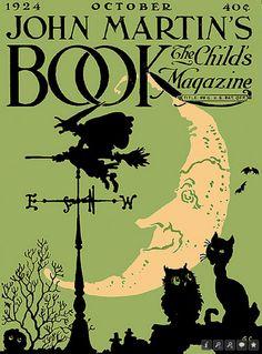 Vintage Halloween Magazine ~ John Martin's Book, The Child's Magazine, October, 1924