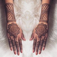 "10.5k Likes, 37 Comments - ✨ Daily Henna Inspiration ✨ (@hennainspo_) on Instagram: ""ok how beautiful is this? // by @arora_mehndi . . . . . . #henna #mehndi #whitehenna…"""