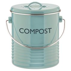 Typhoon Summer House Blue Compost Caddy.