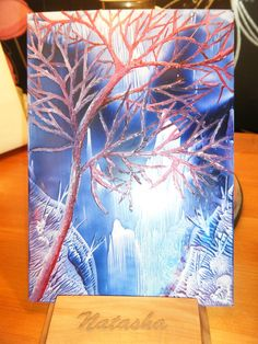 ACEO Encaustic Art Wax Painting £10.00