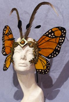 BE the regal Monarch butterfly in this incredible butterfly mask!