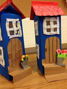 Milk Carton & Felt Houses