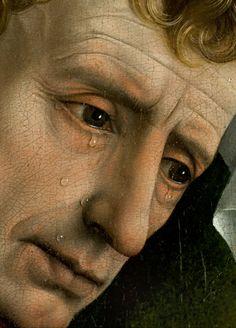 Rogier van der Weyden · El descendimiento (detalle: San Juan Evangelista) · Museo Nacional del Prado · Madrid (España)