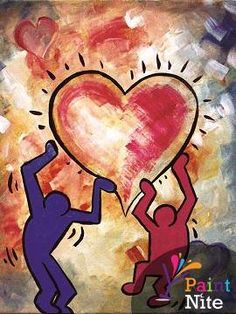 Painting: Love Carried - www.paintnite.com - #PaintNite #Love #Art