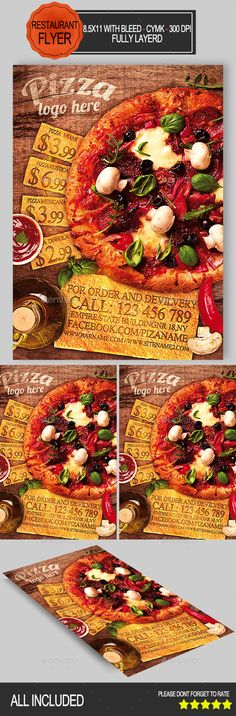 Pizza Restaurant Flyer Template PSD | Buy and Download: http://graphicriver.net/item/pizza-restaurant-flyer/8966991?WT.ac=category_thumb&WT.z_author=ionescu_stefania&ref=ksioks