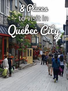 8 Places to Visit in Quebec City · Kenton de Jong Travel - I was recently asked if I preferred my time in Montreal or Quebec City more, and while Montreal is a gorgeous city, decorated with thousands of gre. Old Quebec, Montreal Quebec, Montreal Canada, Montreal Travel, Best Places To Travel, Cool Places To Visit, Visitar Canada, Vancouver, Canadian Travel